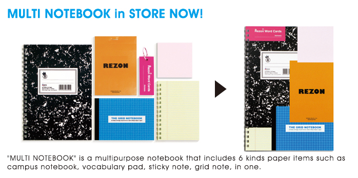 MULTI NOTEBOOK IN STORE NOW!